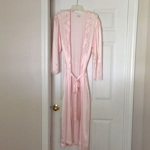 Sara Beth Pink Polyester House Coat